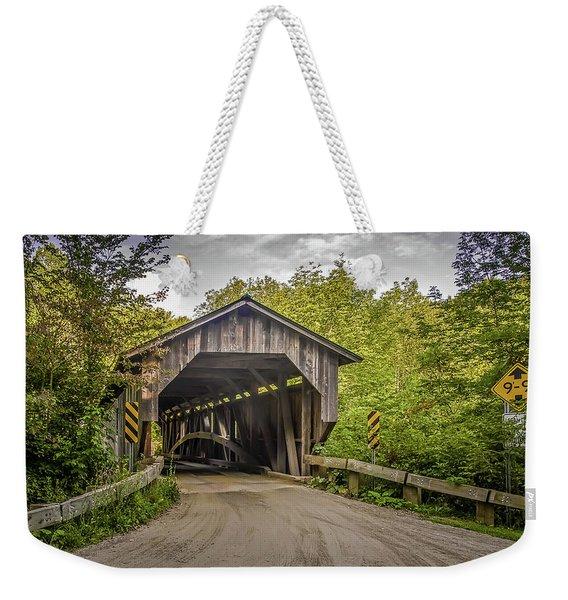 Jeffersonville Covered Bridge Weekender Tote Bag
