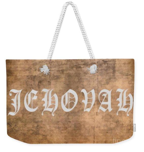 Jehovah Weekender Tote Bag