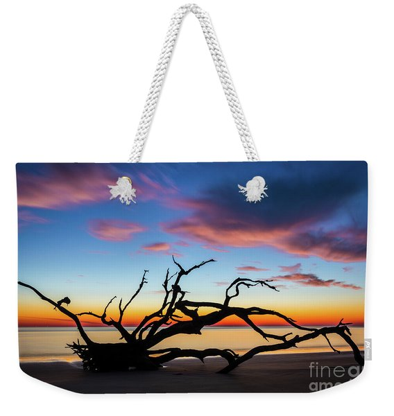 Jekyll Island Sunrise On Driftwood Beach Weekender Tote Bag