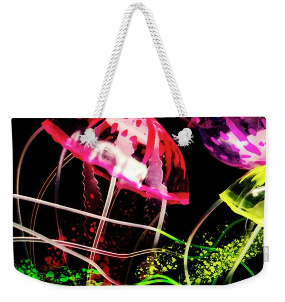 Jelly Fish Trails Weekender Tote Bag