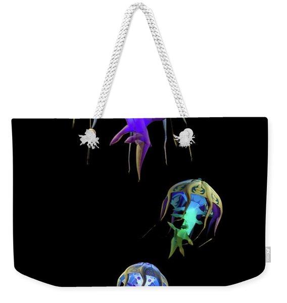 Jellys In Space Weekender Tote Bag