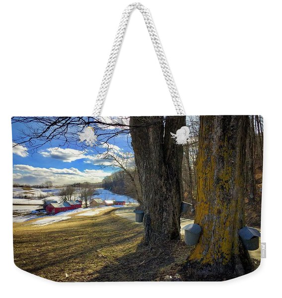 Jenne Farm Maple Sugaring Weekender Tote Bag