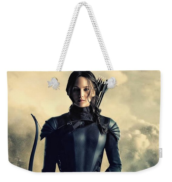 Jennifer Lawrence The Hunger Games  2012 Publicity Photo Weekender Tote Bag