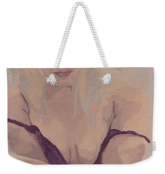 Jenny In Purple Weekender Tote Bag