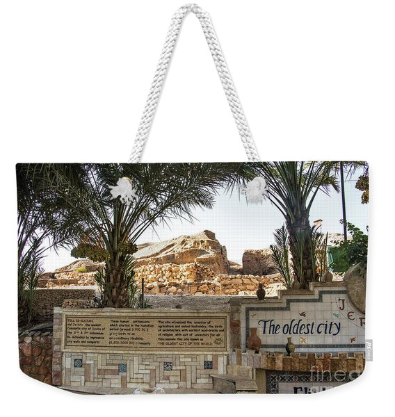 Weekender Tote Bag featuring the photograph Jerico by Mae Wertz