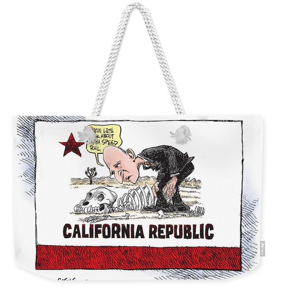 Jerry Brown - California Drought And High Speed Rail Weekender Tote Bag