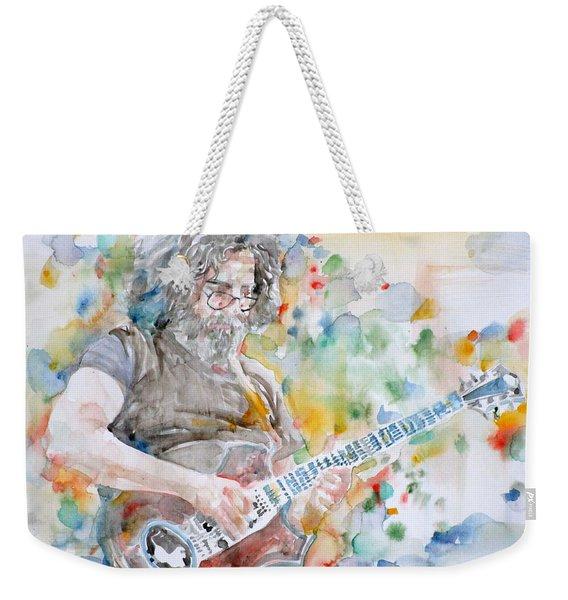 Jerry Garcia - Watercolor Portrait.15 Weekender Tote Bag