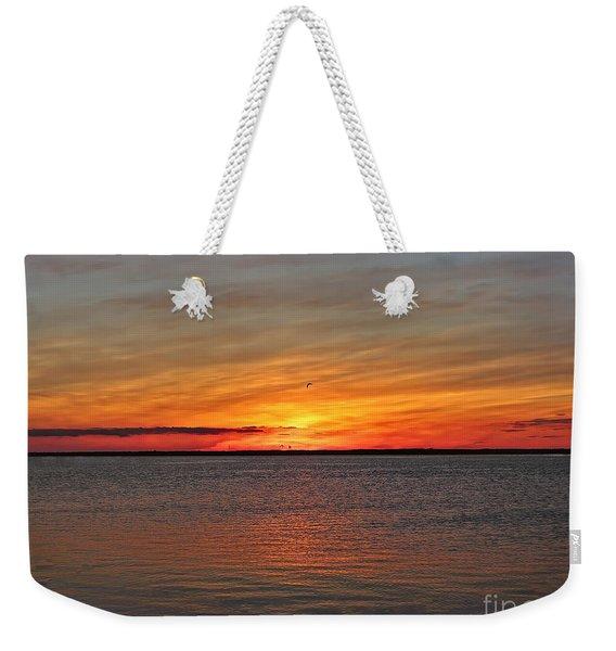 Jersey Shore Sunset Hdr Weekender Tote Bag