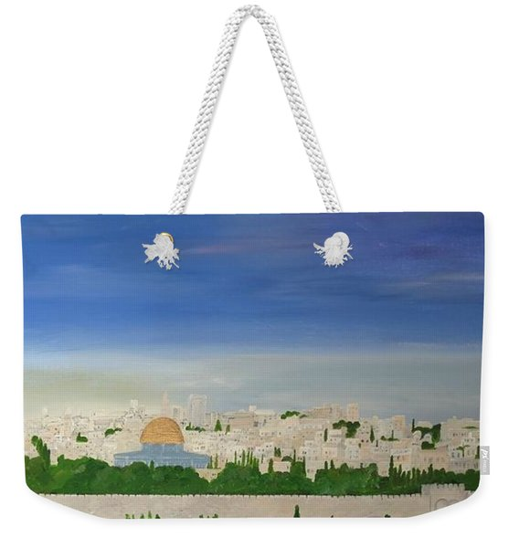 Jerusalem Skyline Weekender Tote Bag