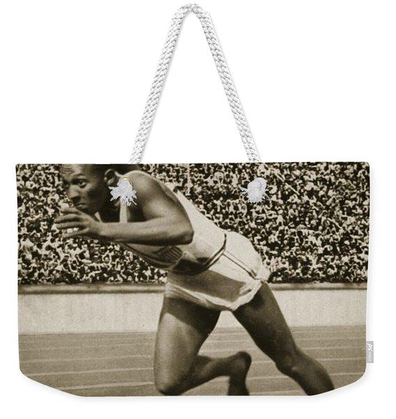 Jesse Owens Weekender Tote Bag