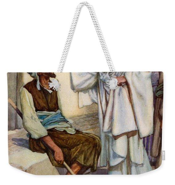 Jesus And The Blind Man Weekender Tote Bag