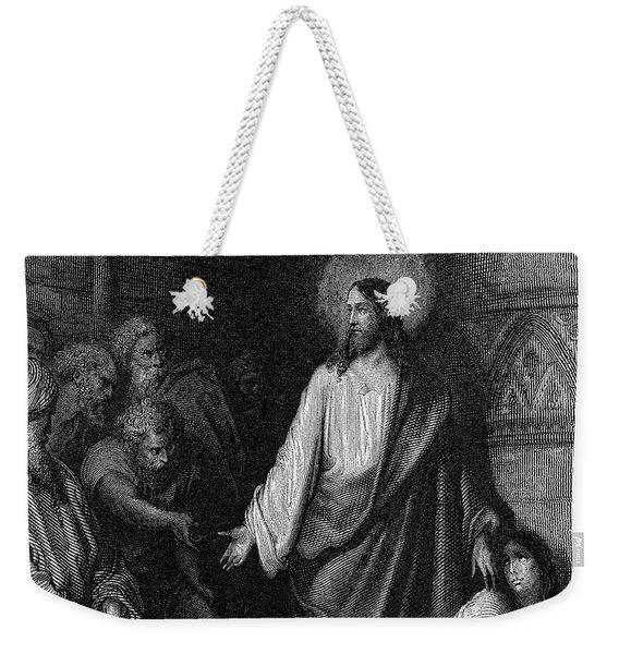 Jesus And The Woman Taken In Adultery Weekender Tote Bag