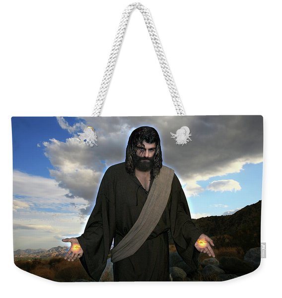 Jesus Christ- And He Withdrew Himself Into The Wilderness And Prayed Weekender Tote Bag