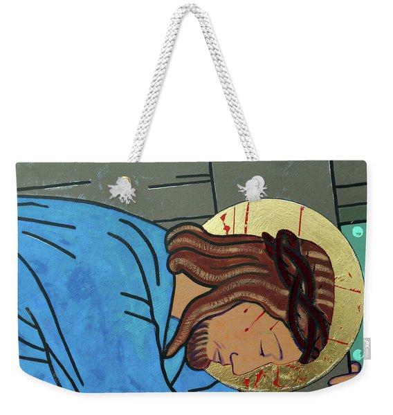 Jesus Falls Weekender Tote Bag