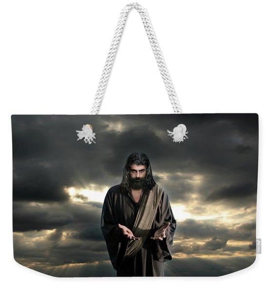 Jesus In The Clouds With Glory Weekender Tote Bag