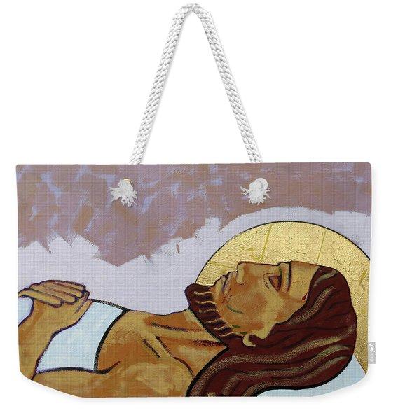 Jesus Is Laid In The Tomb Weekender Tote Bag