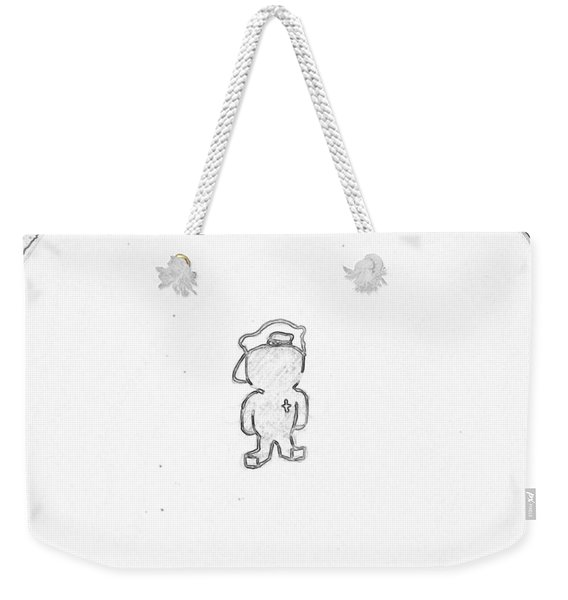 Jesus Kid /black On White Weekender Tote Bag