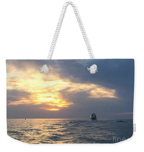 Watching Over The Inlet Weekender Tote Bag