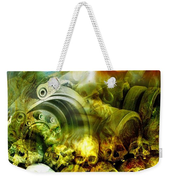 Weekender Tote Bag featuring the photograph Jesus Wept by Skip Hunt