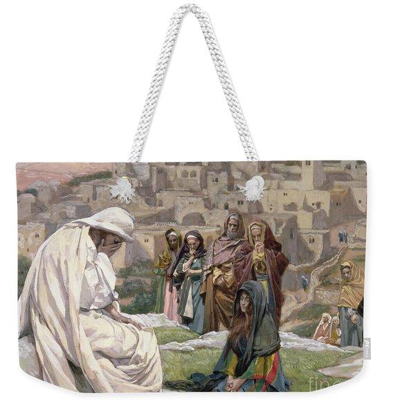 Jesus Wept Weekender Tote Bag