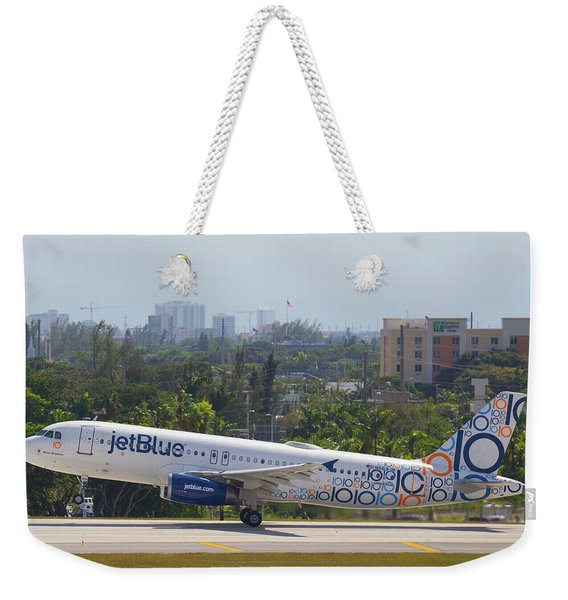 Jet Blue Blues Brothers Weekender Tote Bag