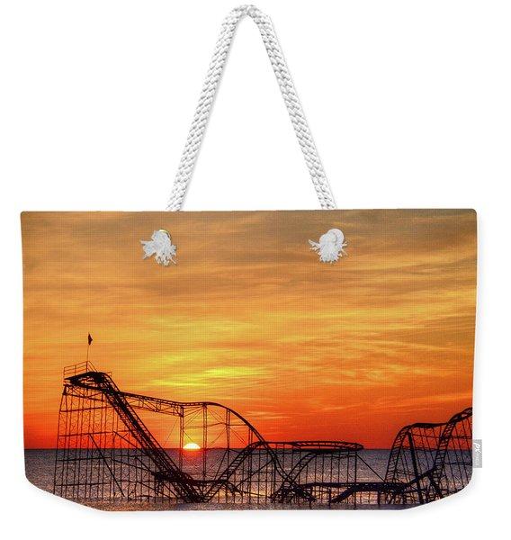 Jet Star Sunrise, Seaside Heights Nj Weekender Tote Bag