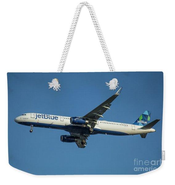 jetBlue Airways Airbus A320 Los Angeles Airport Art Weekender Tote Bag