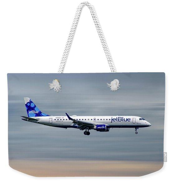 Jetblue Airways Embraer Erj-190ar Weekender Tote Bag