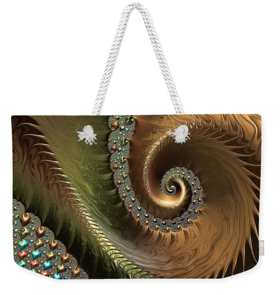 Jewel And Spiral Abstract Weekender Tote Bag