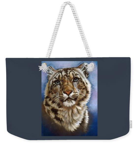 Weekender Tote Bag featuring the pastel Jewel by Barbara Keith