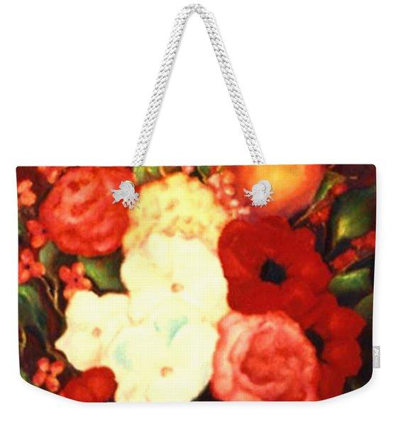 Jewel Flowers Weekender Tote Bag