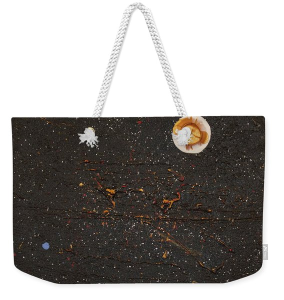 Weekender Tote Bag featuring the painting Jewel Of The Night by Michael Lucarelli