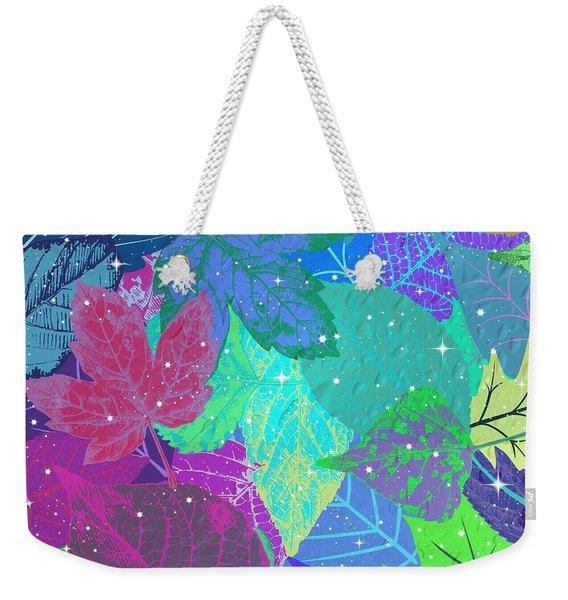 Jeweled Leaves Weekender Tote Bag