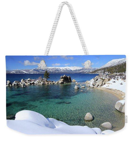 Jewels Of Winter Weekender Tote Bag