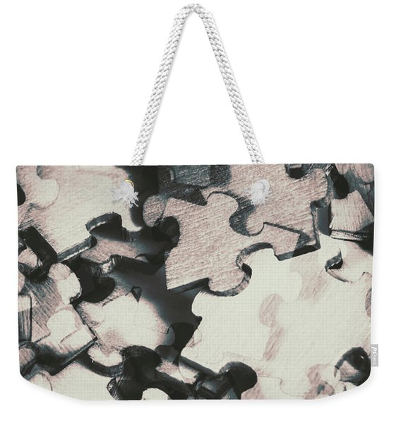 Jigsaws Of Double Exposure Weekender Tote Bag