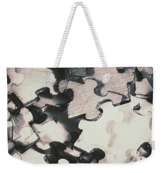 Jigsaws Of Double Exposure Weekender Tote Bag