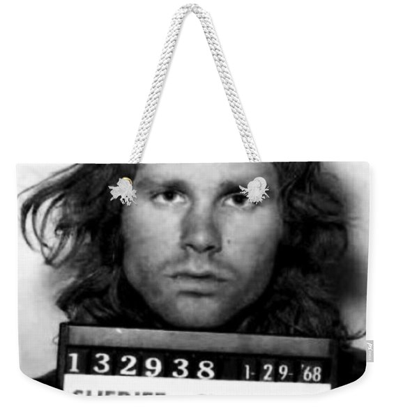 Jim Morrison Mug Shot 1968 Photo Weekender Tote Bag