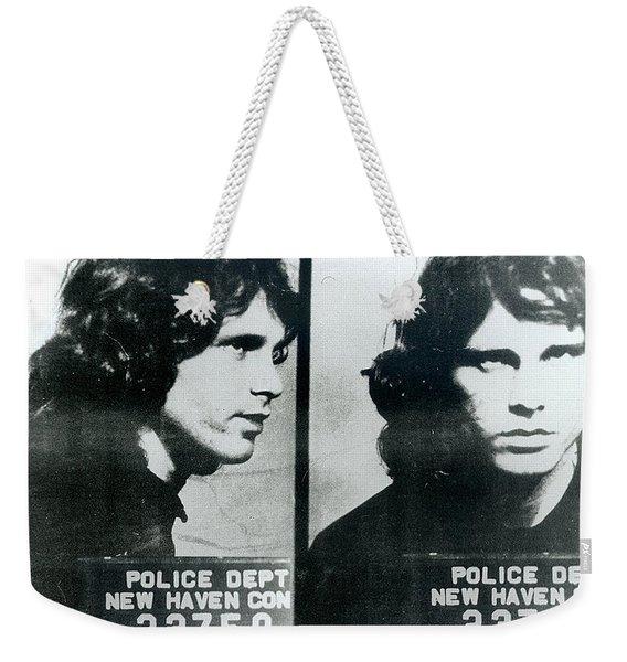 Jim Morrison Mug Shot Horizontal Weekender Tote Bag