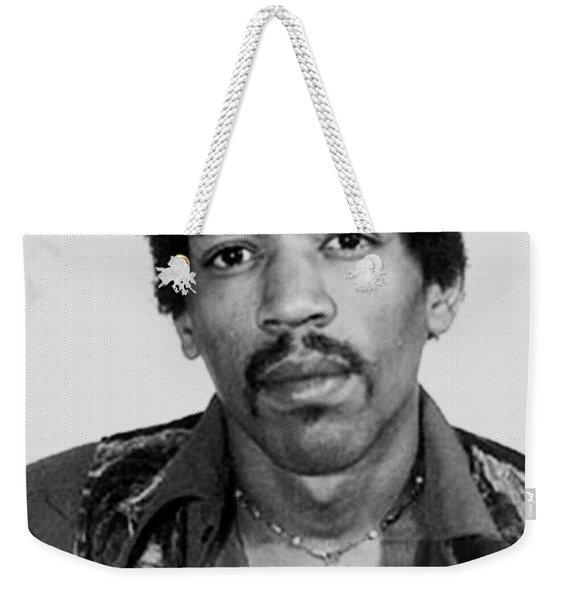 Jimi Hendrix Mug Shot Vertical Weekender Tote Bag