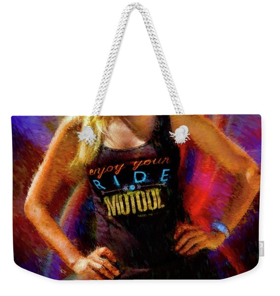 Joan Pulido The Motool Girl Weekender Tote Bag