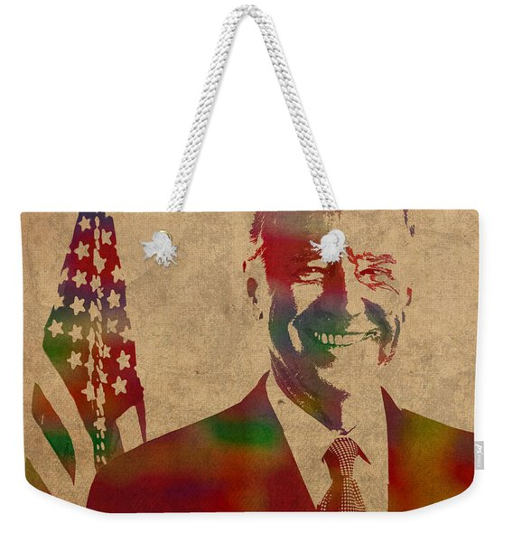 Joe Biden Watercolor Portrait Weekender Tote Bag