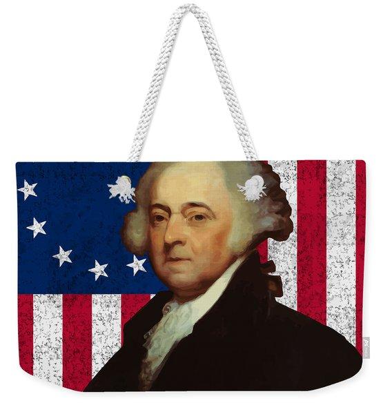 John Adams And The American Flag Weekender Tote Bag