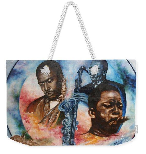 Blaa Kattproduksjoner     John Coltrane - Jazzed  Weekender Tote Bag