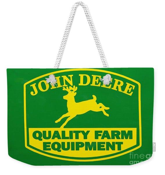 John Deere Farm Equipment Sign Weekender Tote Bag
