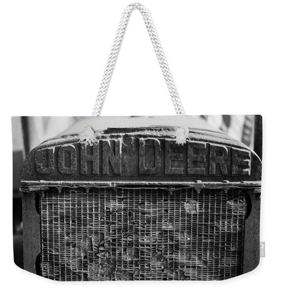 John Deere In Monochrome Weekender Tote Bag