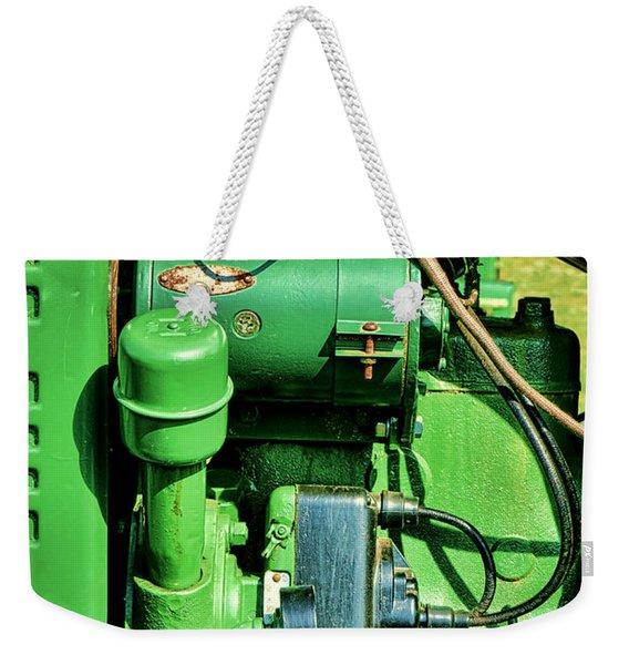 John Deere Tractor Engine Detail Weekender Tote Bag