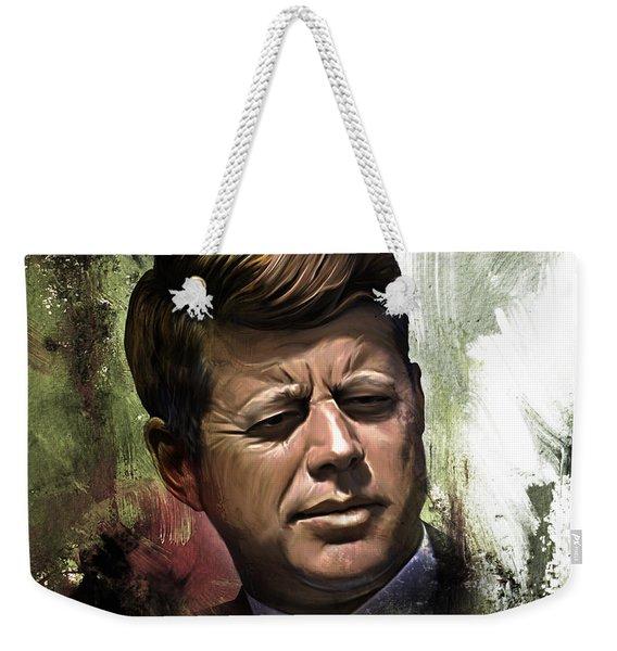 John F. Kennedy 01 Weekender Tote Bag