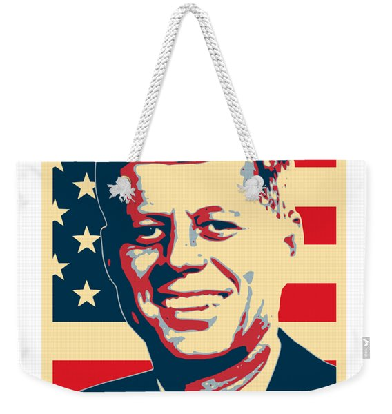 John F Kennedy American Propaganda Poster Art Weekender Tote Bag