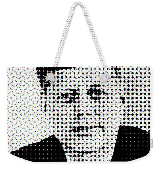 John F Kennedy In Dots Weekender Tote Bag