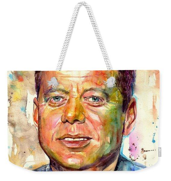 John F. Kennedy Painting Weekender Tote Bag